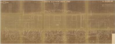 Disegno n. E58146.0 Locomotive elettriche gruppo E431